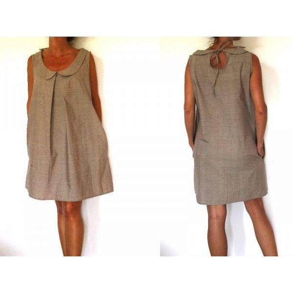 patron de couture robe col claudine et goutte dans le dos szycie pinterest peter pan. Black Bedroom Furniture Sets. Home Design Ideas