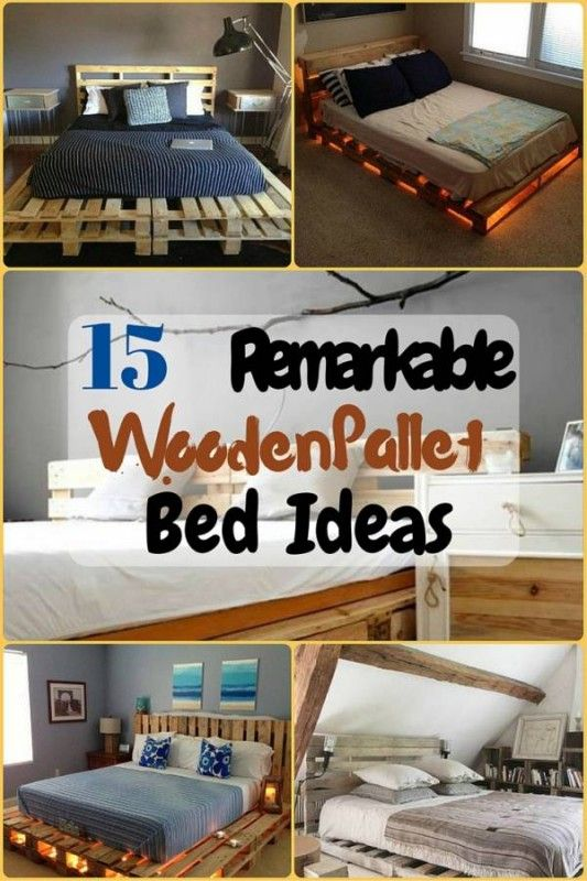 15 Remarkable Wooden Pallet Bed Ideas