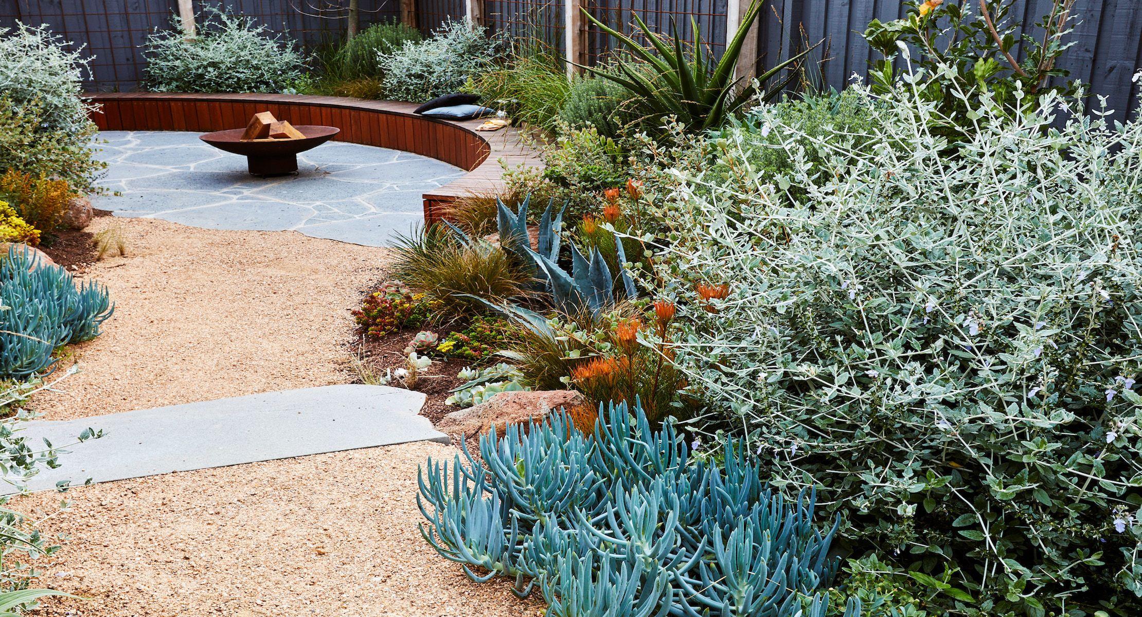 Sunken Coastal Garden | Phillip Withers Landscape Design ... on Coastal Backyard Ideas id=15969