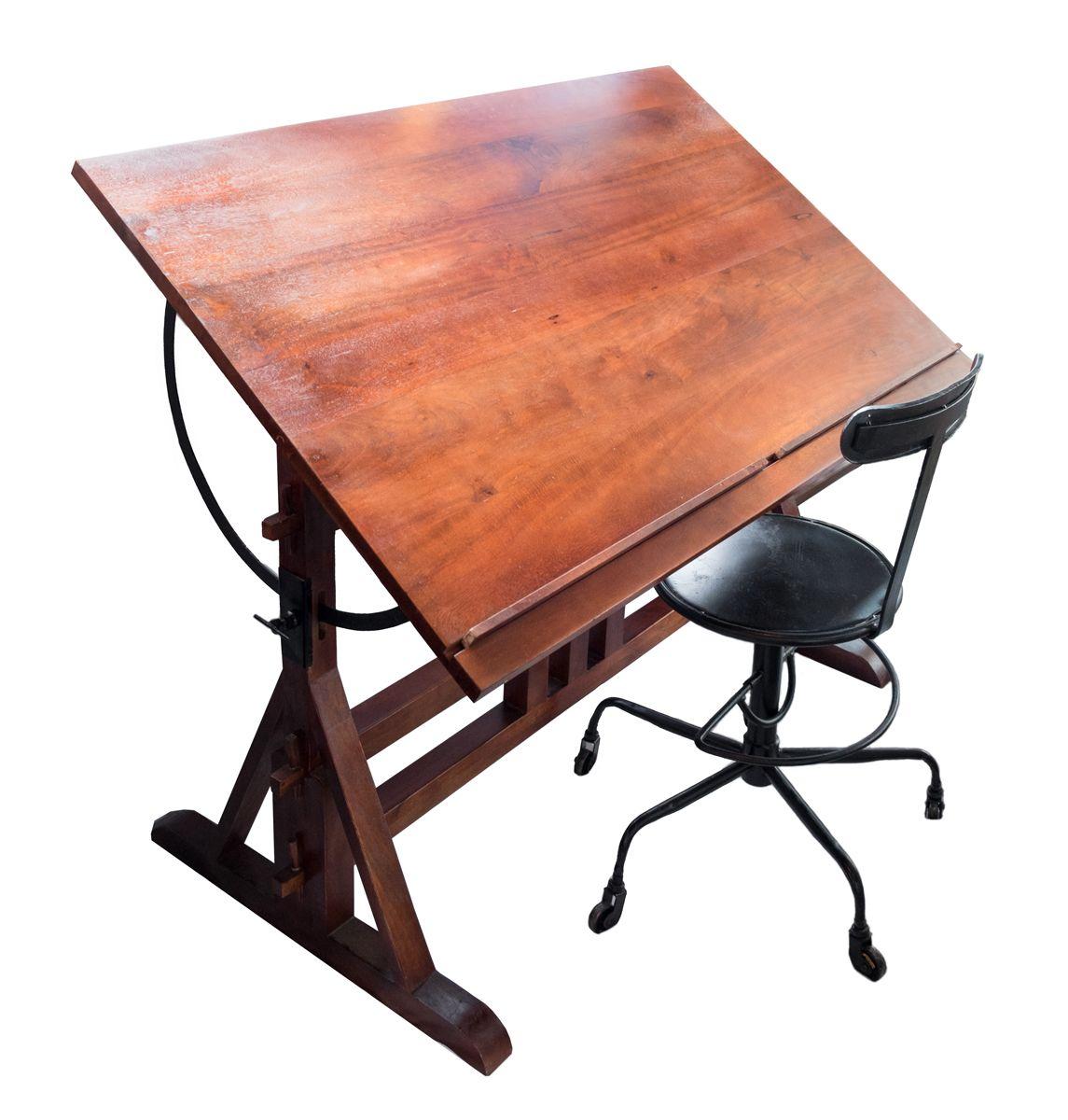 Ritbord i trä med stol Studio Workspaces Pinterest Trä