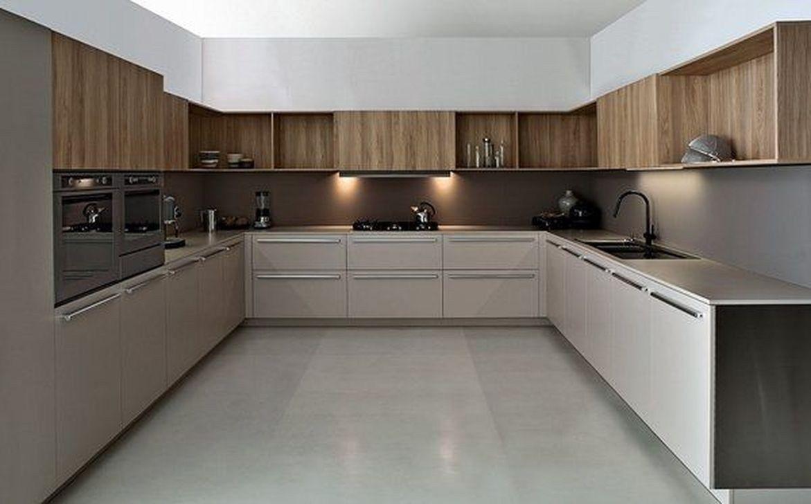 32 Stunning Modern Contemporary Kitchen Cabinet Design Home Design Modern Kitchen Cabinet Design Contemporary Kitchen Cabinets Kitchen Cabinet Design