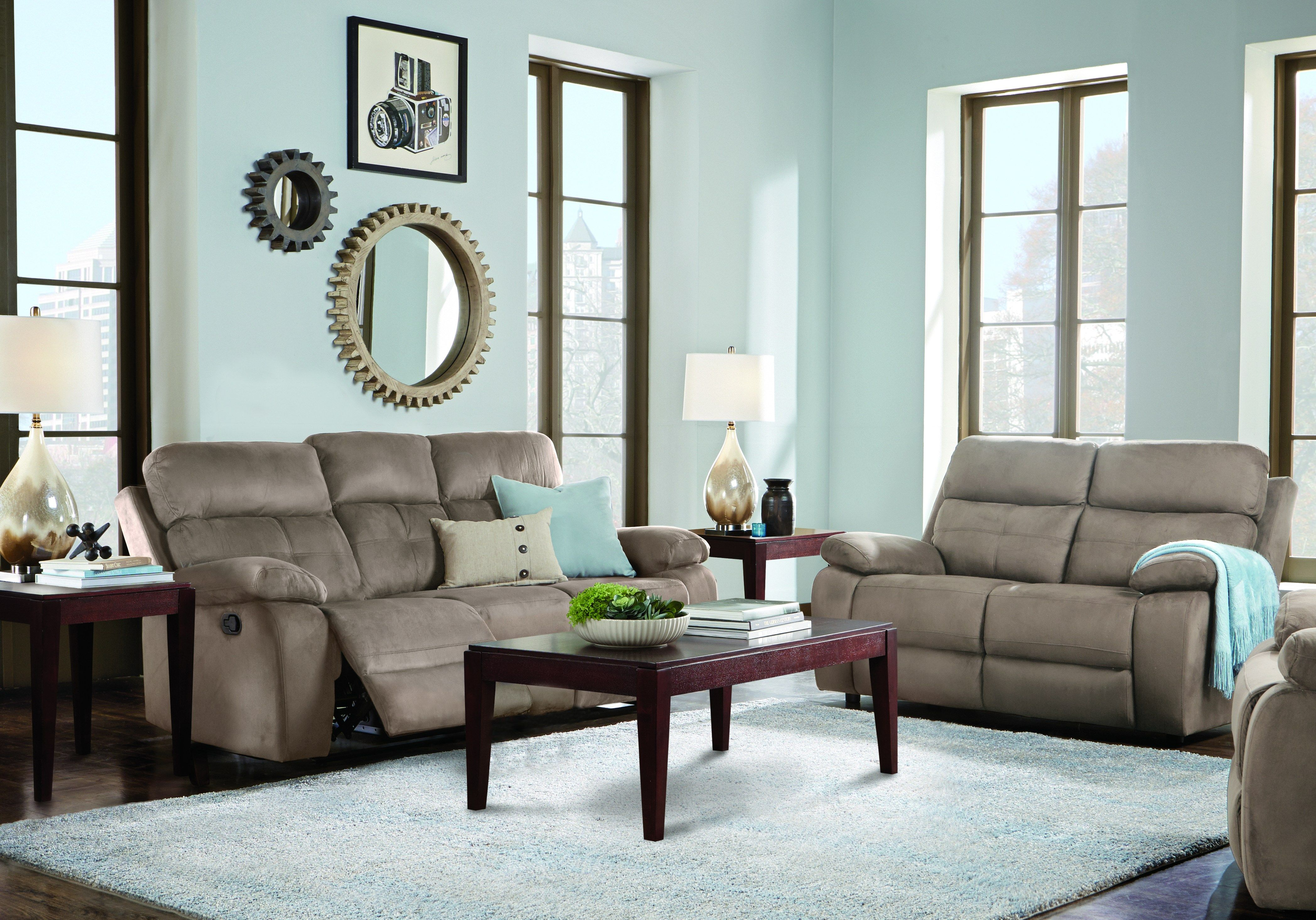 Corinne Stone 5 Pc Living Room With Reclining Sofa Living Room Suite Living Room Sets Living Room Sets Furniture