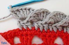 Borte häkeln - Anfänger-Anleitung für gehäkelte Spitze #crochethooks