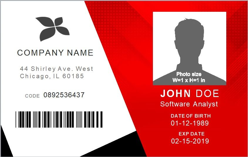 Student Id Card Template 6 Free Printable Documents Word Excel In 2021 Id Card Template Business Cards Creative Scholarship Thank You Letter