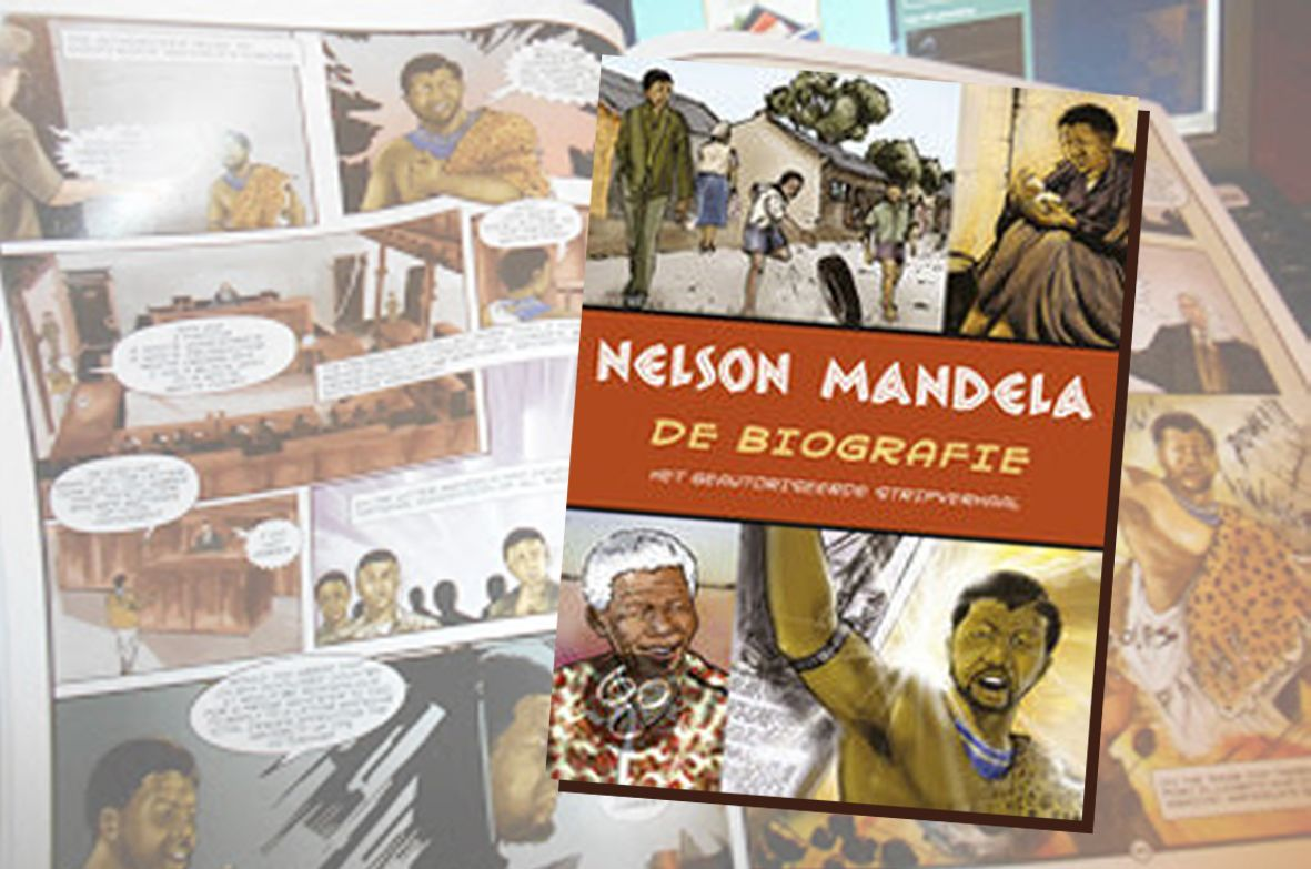 Toen hij 91 jaar werd verscheen het stripboek van Nelson Mandela. Over beroemde mensen worden biografieën geschreven; stripboeken gaan over helden. Mandela is zo'n held.