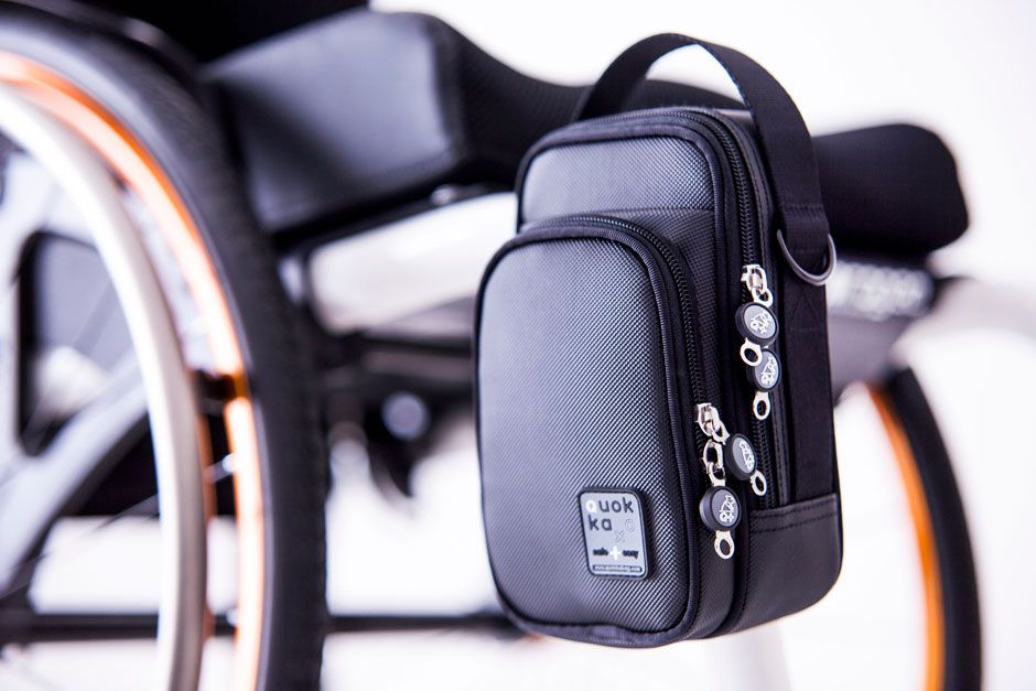 Small Wheelchairbag Walkerbag Black Wheelchair Accessories Waterproof Storage Wheelchair Bags