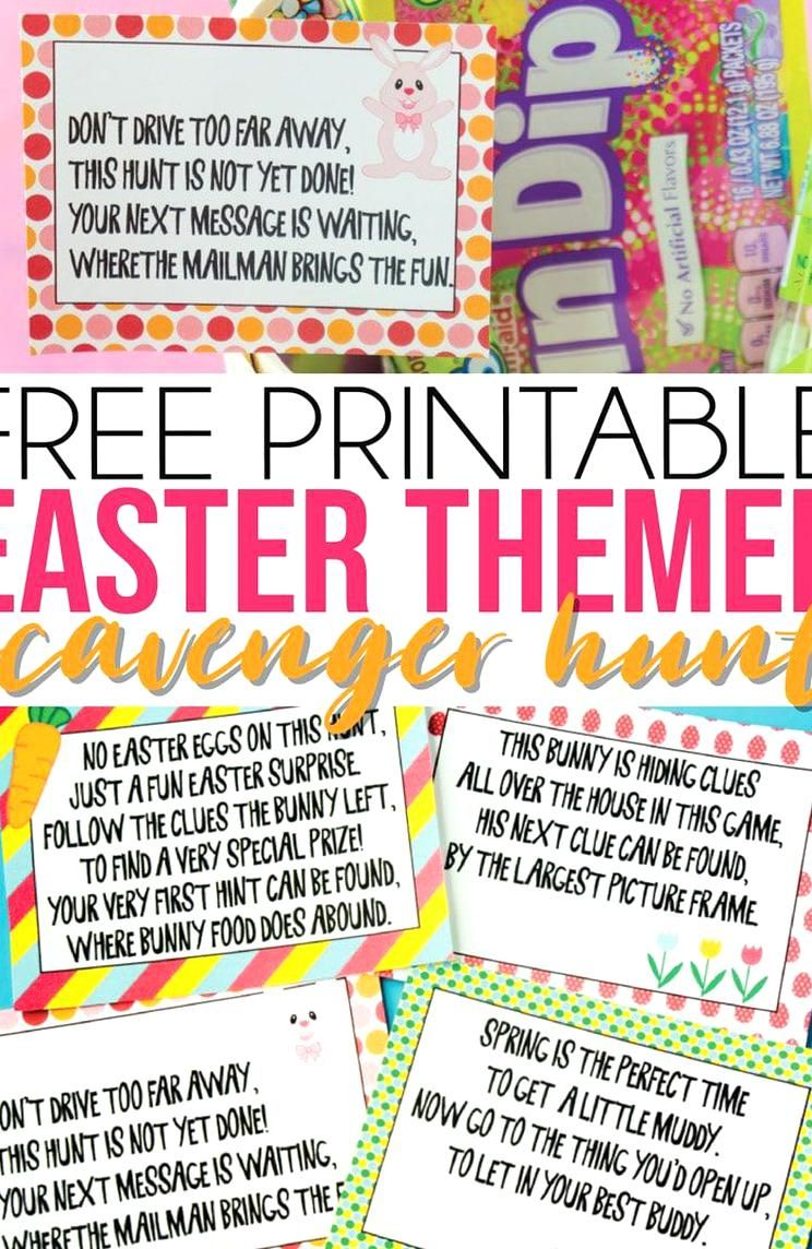 This Easter scavenger hunt is perfect for kids! With free