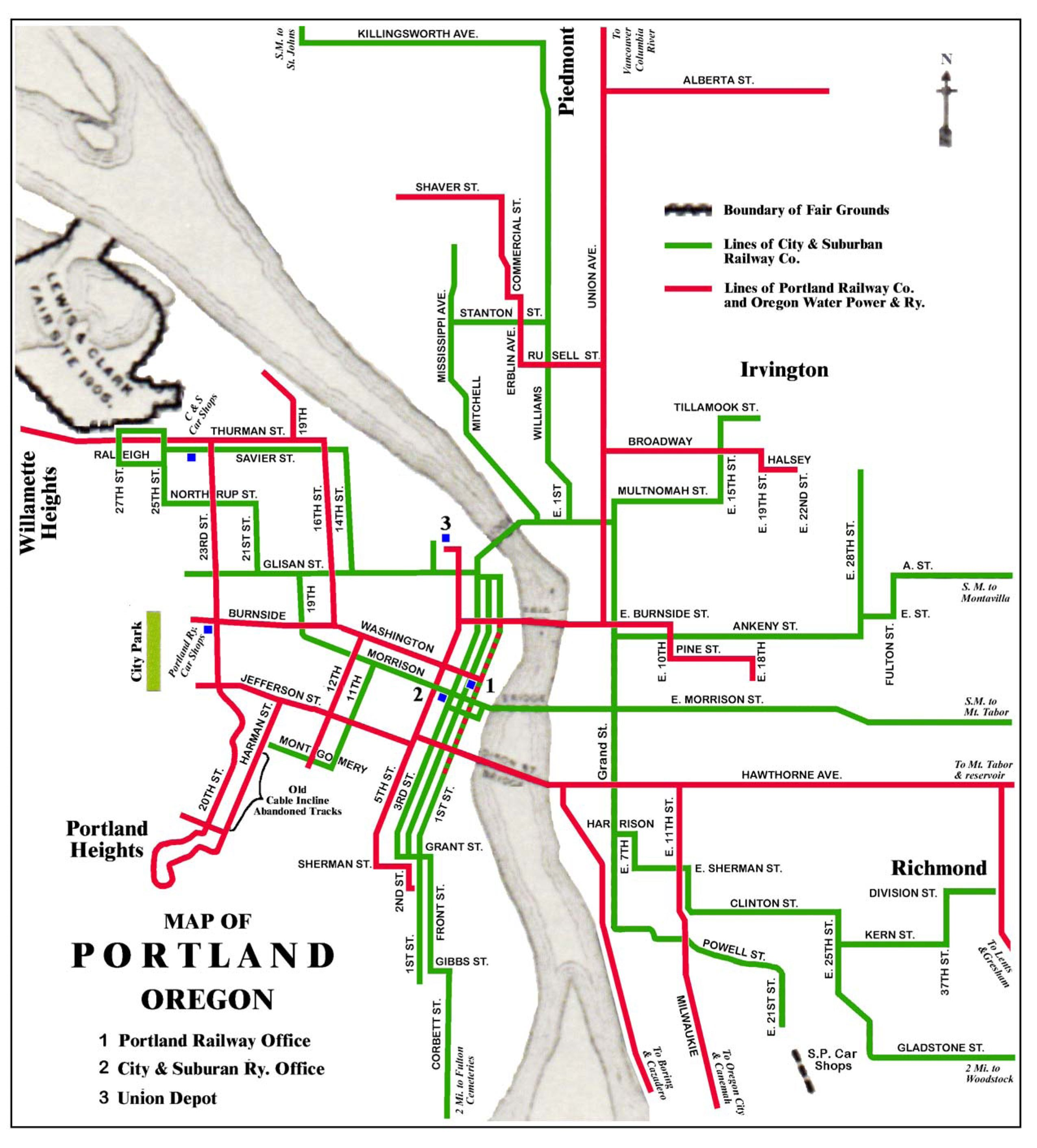 portland street car map Portland Streetcar System Portland Oregon City Irvington portland street car map