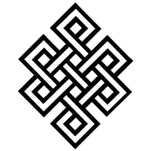 Details about ENDLESS KNOT - BUDDHIST SYMBOL - CHINESE - ETERNAL ...