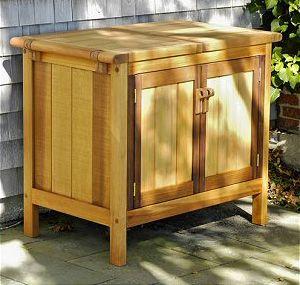 Storage Buffet Cabinets Cedar Patio Outdoor Teak Units By Brookbend