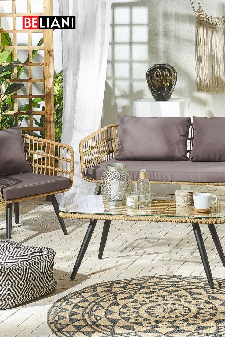 Gemutliches Outdoor Set Aus Polyrattan Gartenmobel Gemutlich Garten Lounge