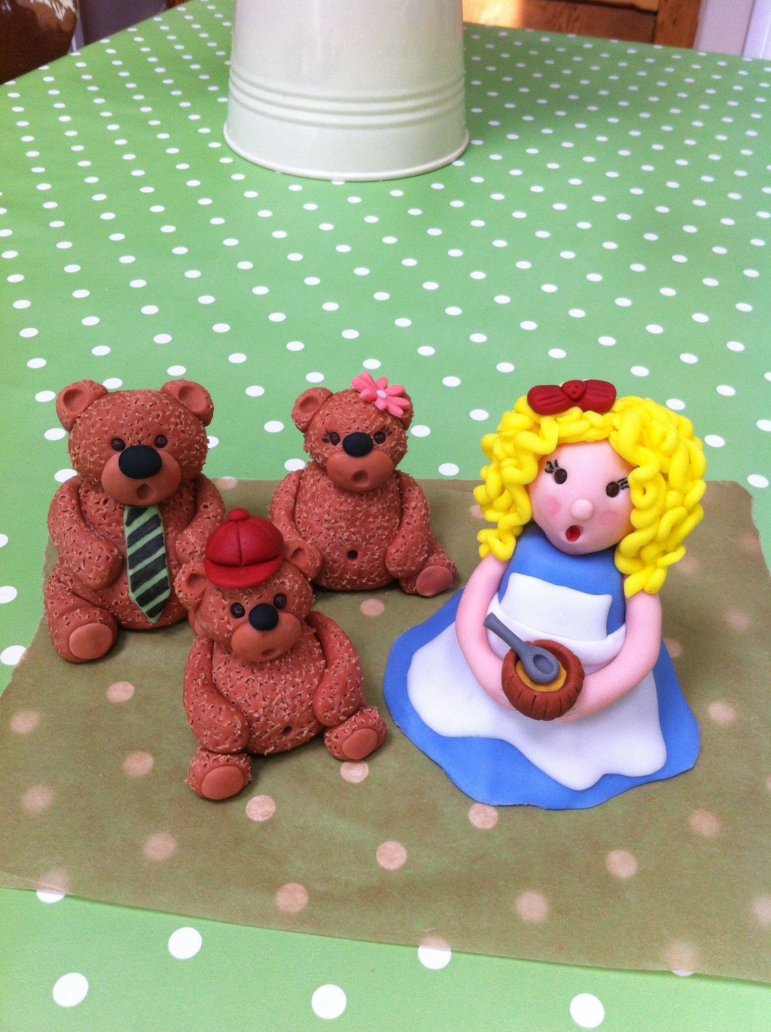 Fondant Goldilocks And The Three Bears Build A Bear Pinterest