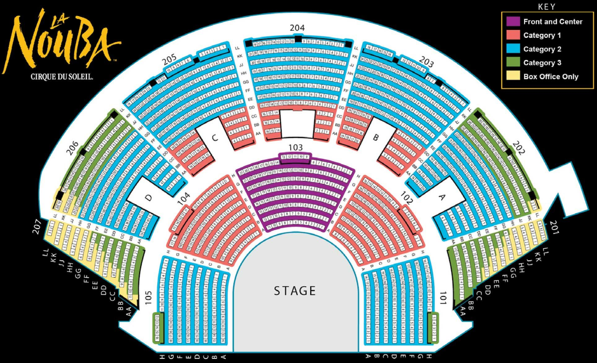Cirque du soleil theatre seating chart disney trip other venues