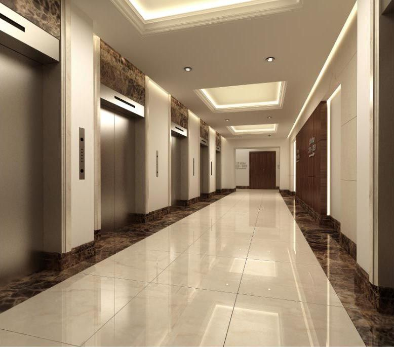 Dubai Elevator Stainless Steel Cladding Doors Interior