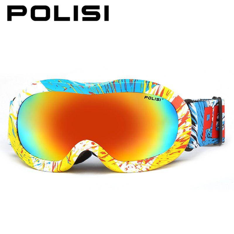 72e0b858acec POLISI Winter Snow Ski Goggles Children Kids Polarized Snowboard Glasses  Boys Girls Anti-fog Outdoor