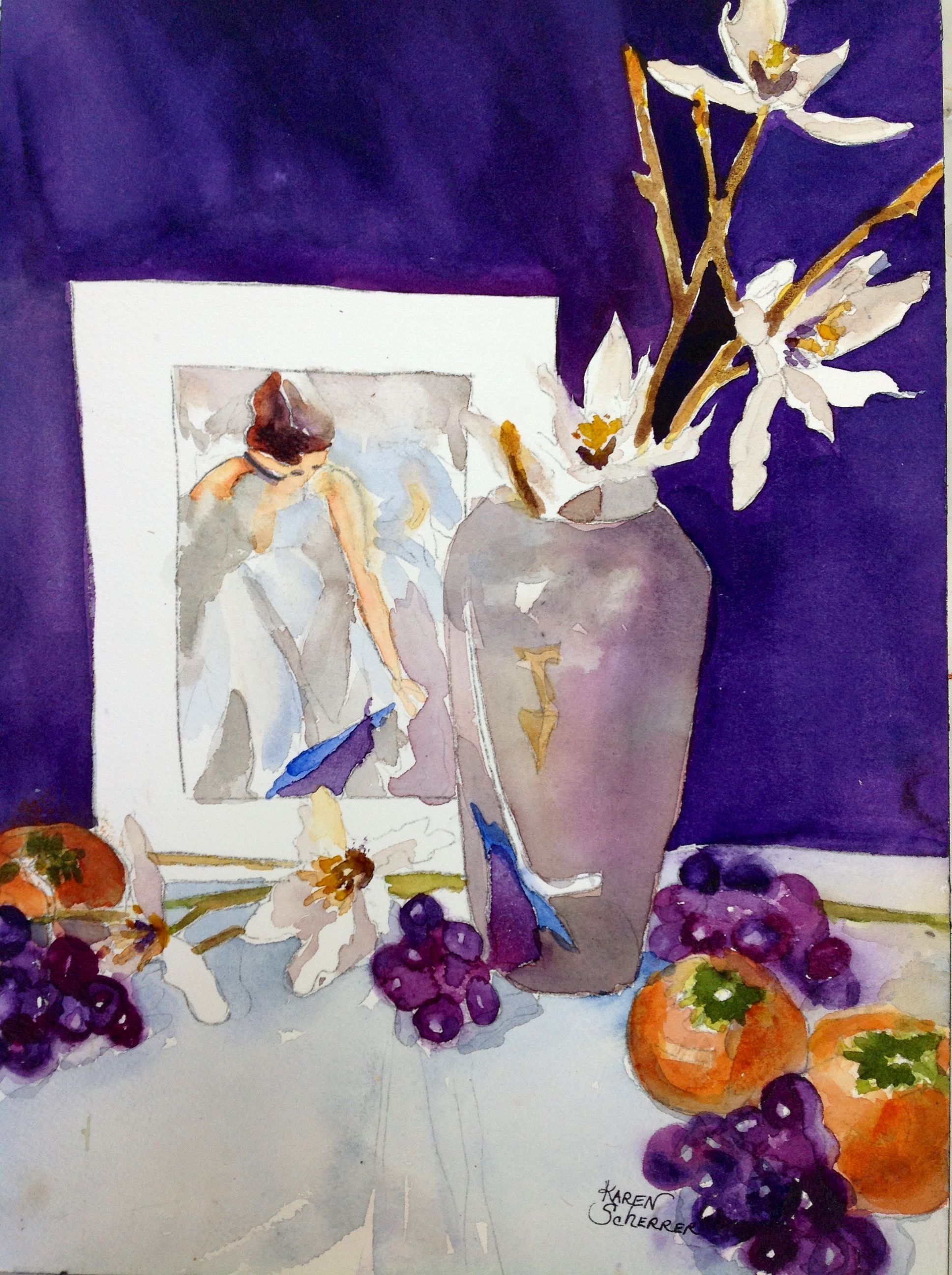 Watercolor artist in texas -  Painting Within A Painting By Texas Watercolor Artist Karen Scherrer