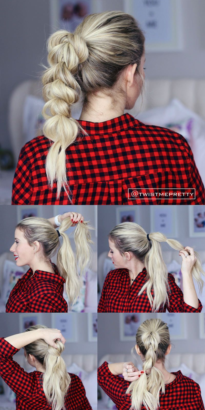 I love this pull through braid it looks so fancy but itus so easy