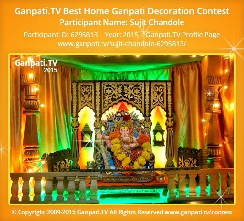 Sujit Chandole Home Ganpati Picture 2015. View More Pictures And Videos Of Ganpati  Decoration At