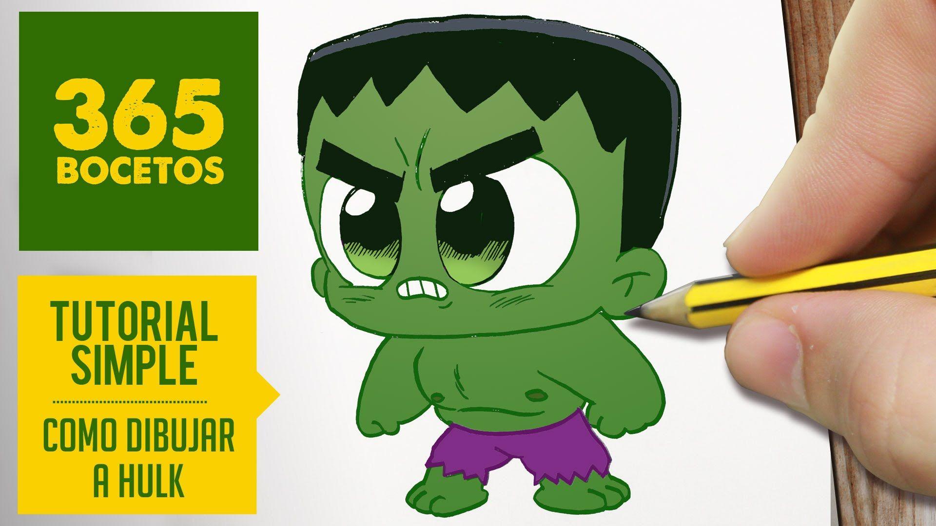 Como Dibujar Hulk Kawaii Paso A Paso Kawaii Facil How To Draw Hulk Como Dibujar A Hulk Dibujos De 365 Bocetos Dibujos Kawaii Faciles