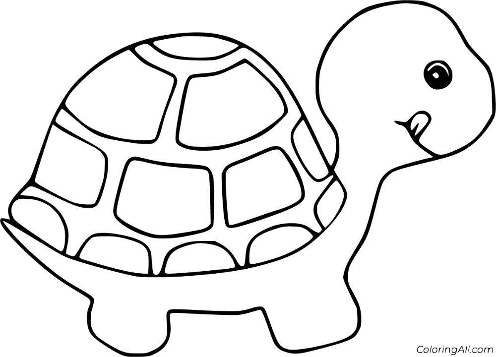53 Free Printable Tortoise Coloring Pages In Vector Format Easy To Print From Any Device And Automatically Fit Any Coloring Pages Cute Tortoise Simple Cartoon