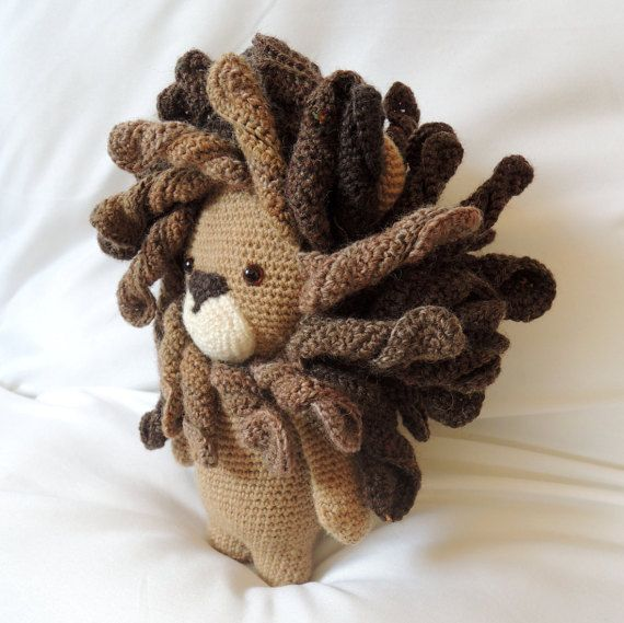 Crochet pattern Boris the lion - Amigurumi pattern | Encaje de palo ...