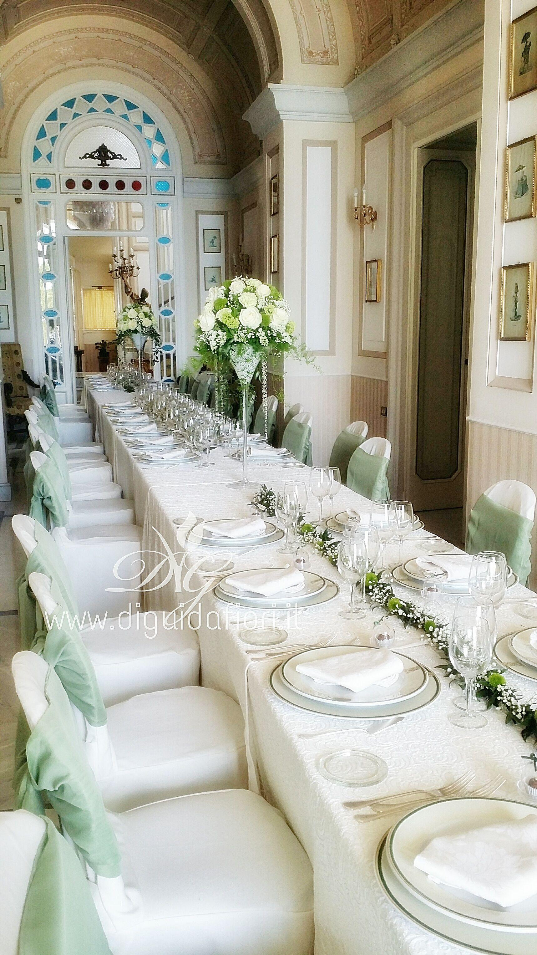 Tavolo imperiale per matrimonio Villa Cilento Posillipo