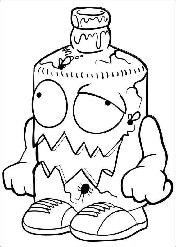 Grossery Coloring Pages