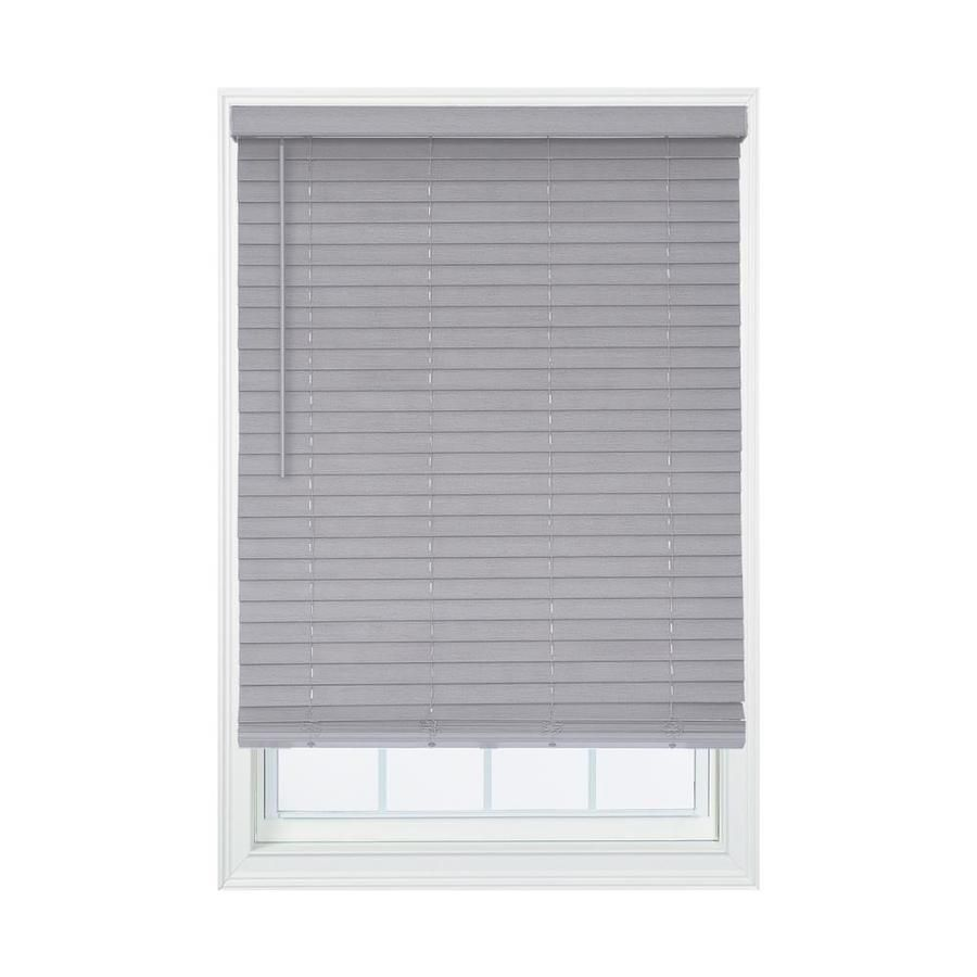 Allen Roth 2 In Cordless Gray Room Darkening Faux Wood Blinds Common 53 25 In Actual 53 25 In X 72 In D In 2020 Room Darkening Blinds Faux Wood Blinds Wood Room