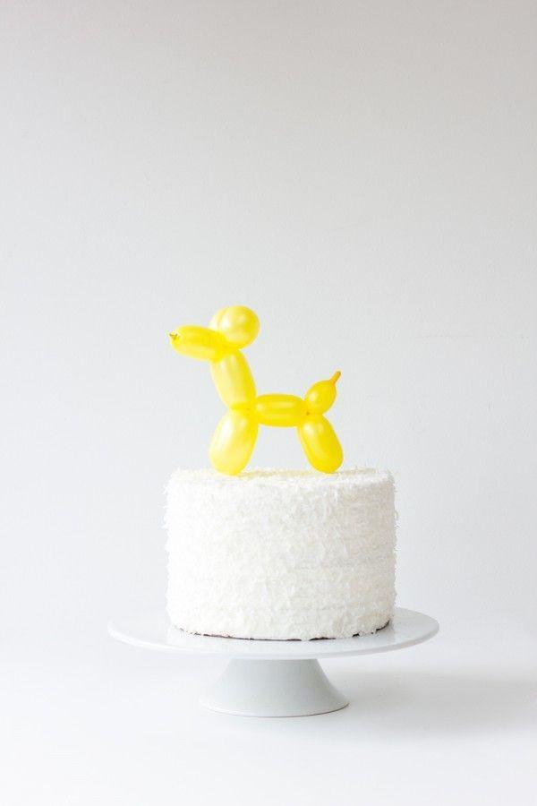 DIY Balloon Animal Cake Toppers Balloon cake Animal cakes and Cake