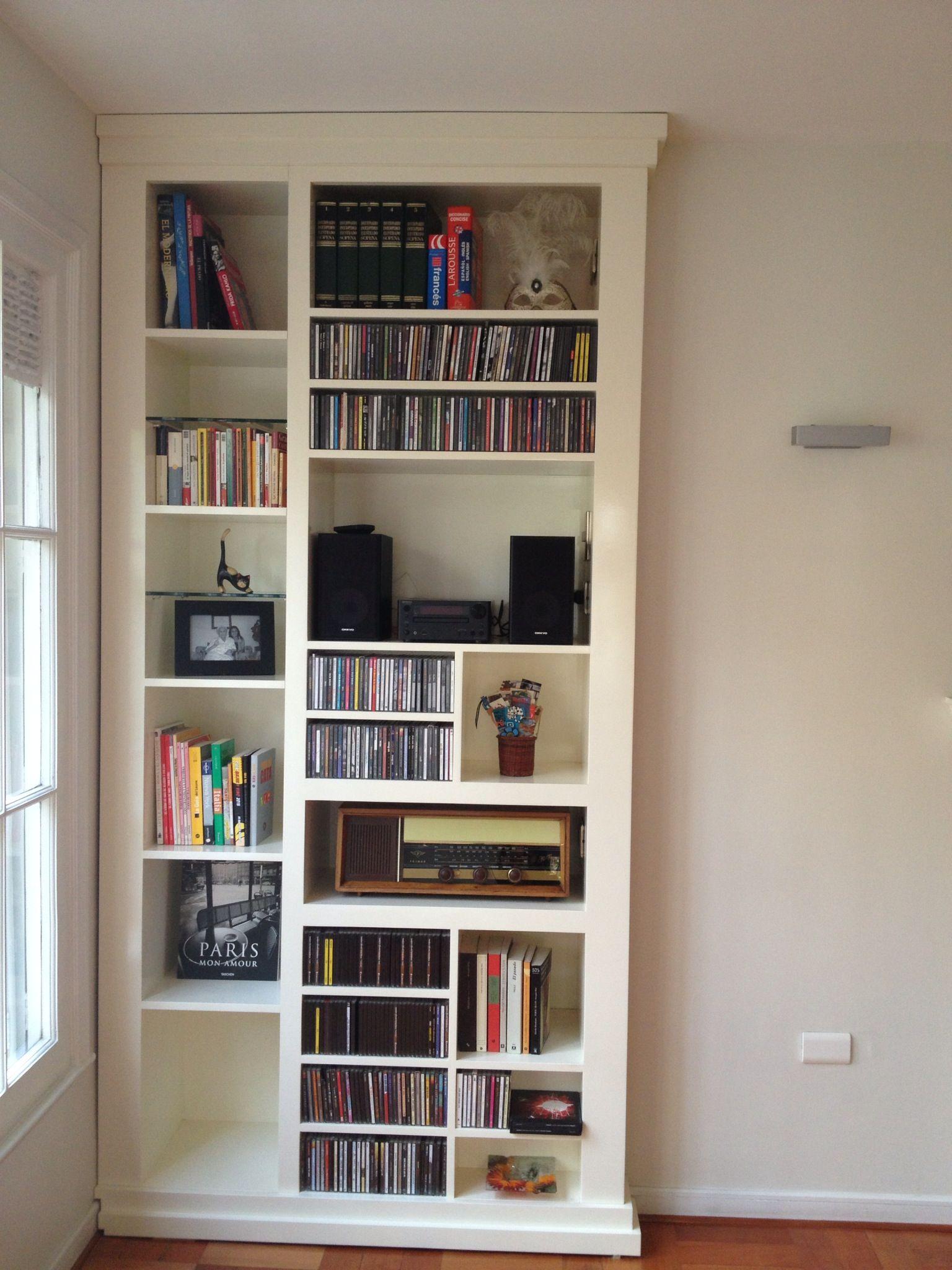 Mueble para discos y libros de mi depto santiago chile for Decoracion hogar santiago chile