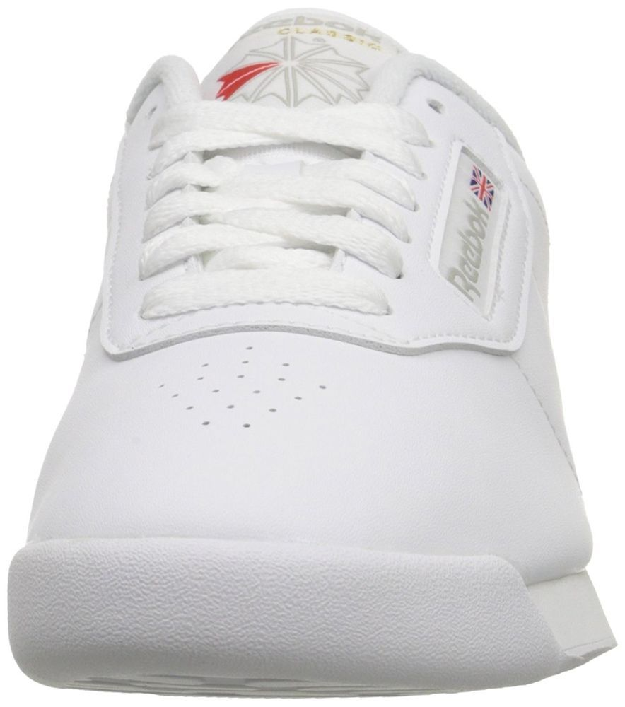 f84d9c0027f Reebok Womens Princess Classic Low Top Lace Up Running Sneaker White ...