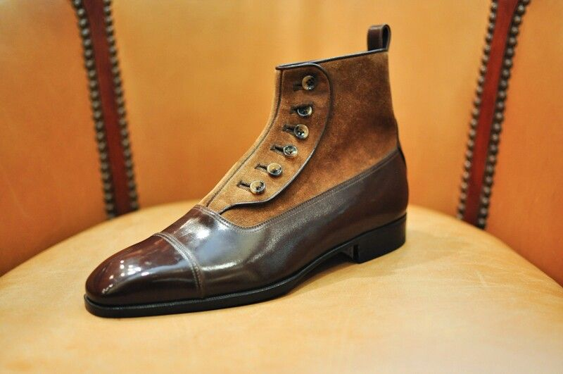 #Zapatos Two Toned Balmoral Boot  Aubercy #Boots