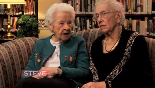 100 year old BFF's talk selfies, Bieber, and more