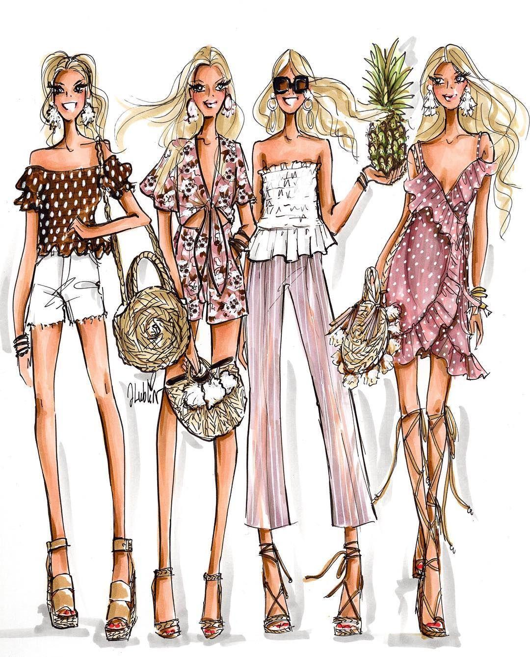 Картинки нарисованные о моде