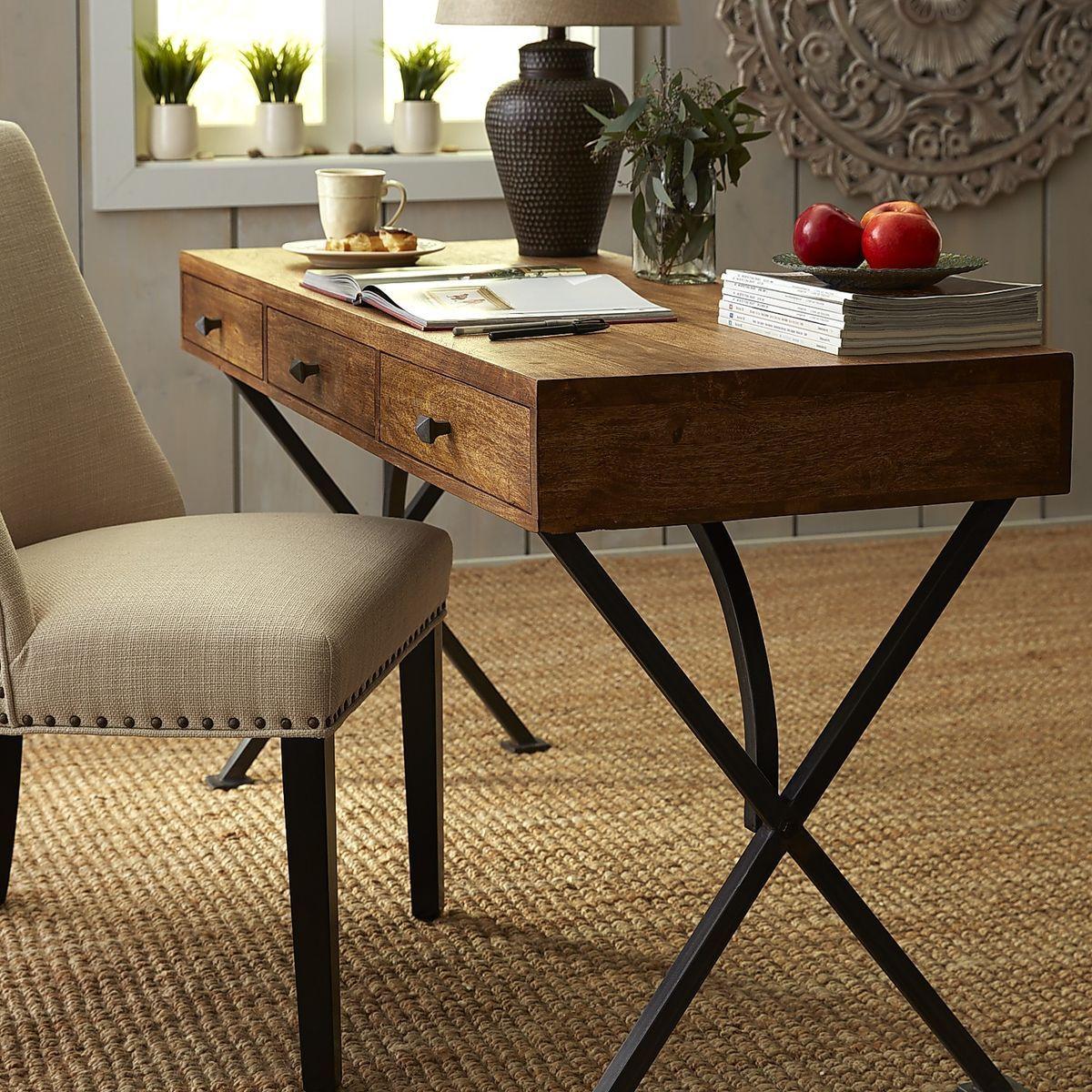 Metro Weathered Java Desk Diy Modern Furniture Home Office Furniture Furniture