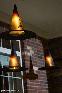 Einfach und billig DIY Halloween-Projekt: DIY hängende Hexe Hüte Tutorial - Wohn Design