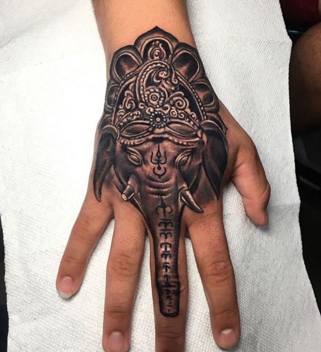Elefante Tatuajes En La Mano Tatuajes De Elefantes Manos Tattoo