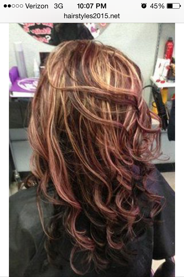 Pin By Shannon Freeman On Hair Ideas Pinterest Red Blonde Brown