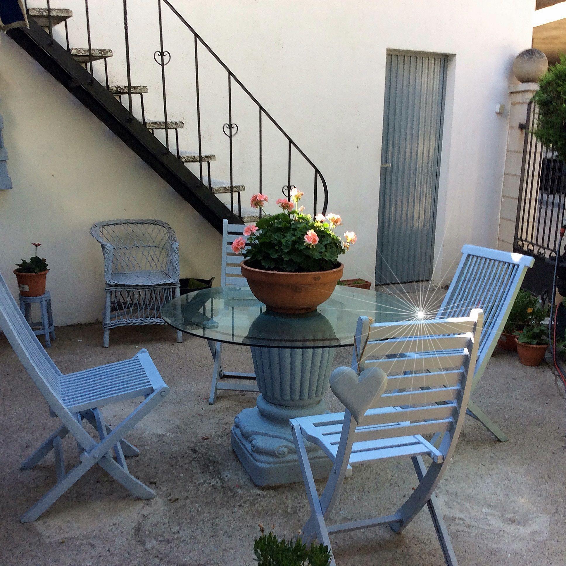 Jardin 1936 1936 ideas deco pinterest muebles de jardin aprovechado y elementos - Pintar terraza ...