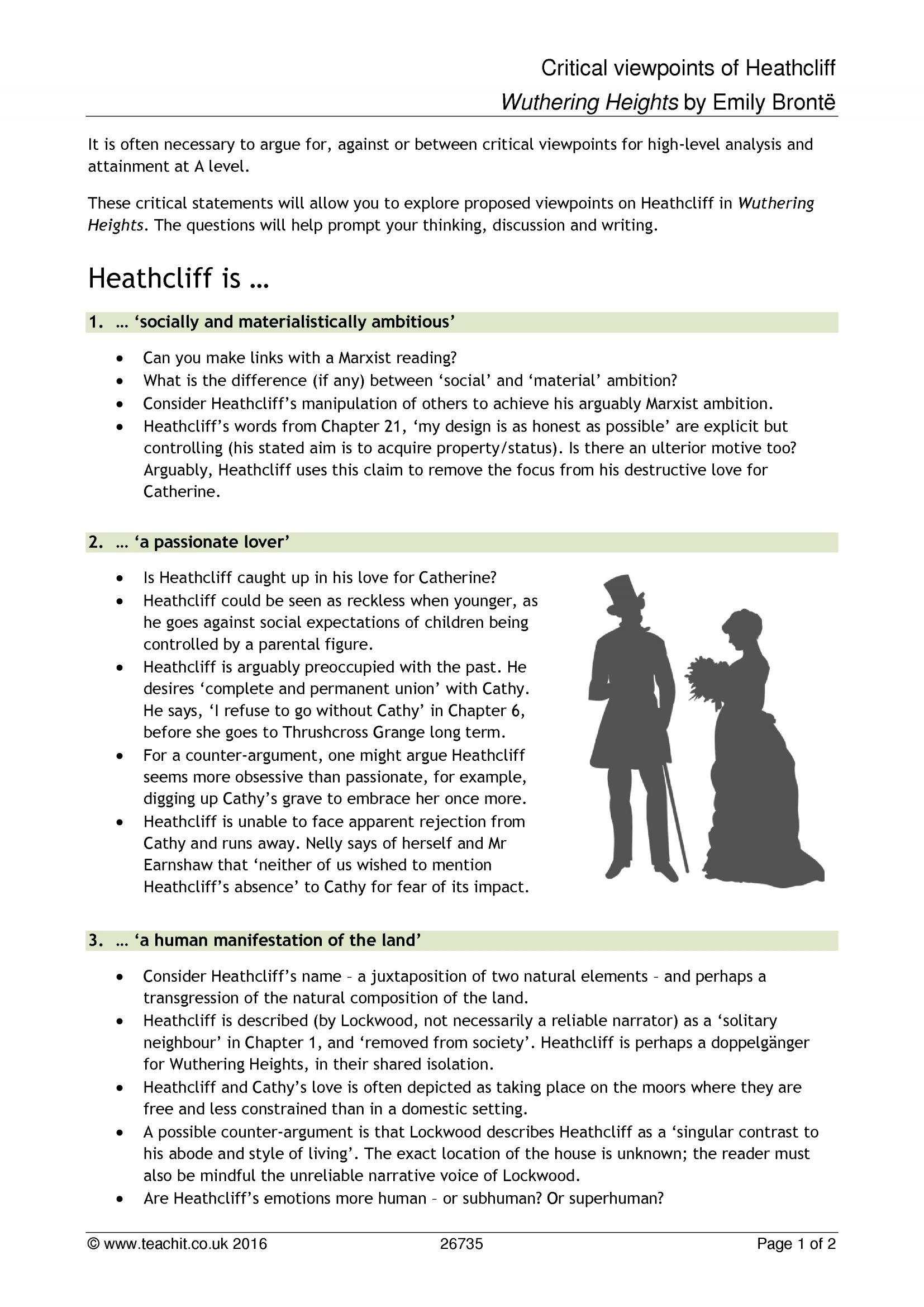 wuthering heights discussion questions by chapter
