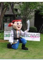 Déguisement Jake Pirate Mascotte Adulte Costume Jake le Pirate
