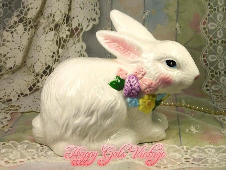 Handmade Bunny Gift Idea Bunny in a Pot Garden Bunny Easter Bunny Home Decor Bunny Bunny figurine Easter Ceramic Bunny