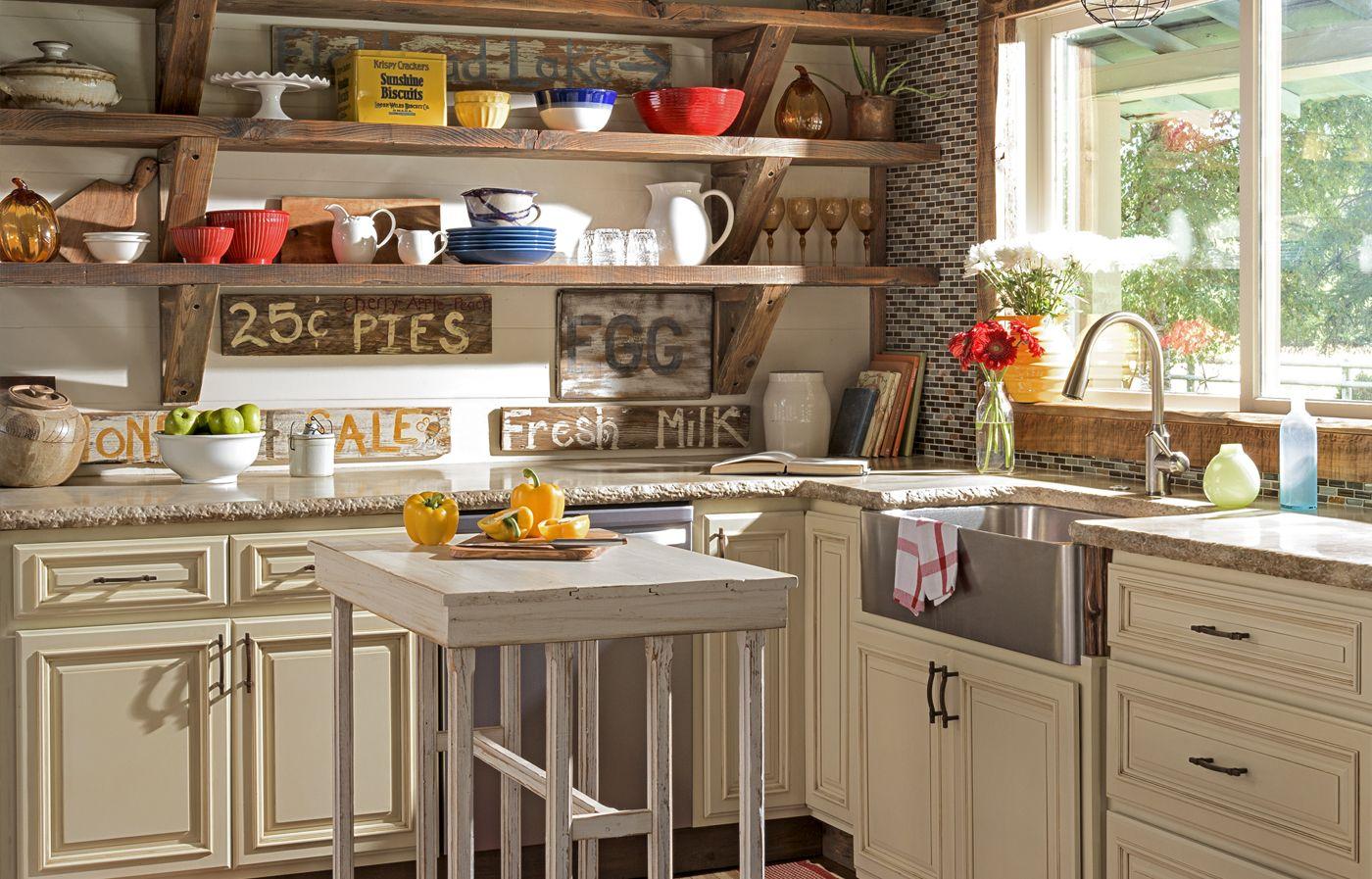 A True to Form 1929 Farmhouse | Rustic kitchen, Farmhouse ... on Rustic:yucvisfte_S= Farmhouse Kitchen Ideas  id=50057