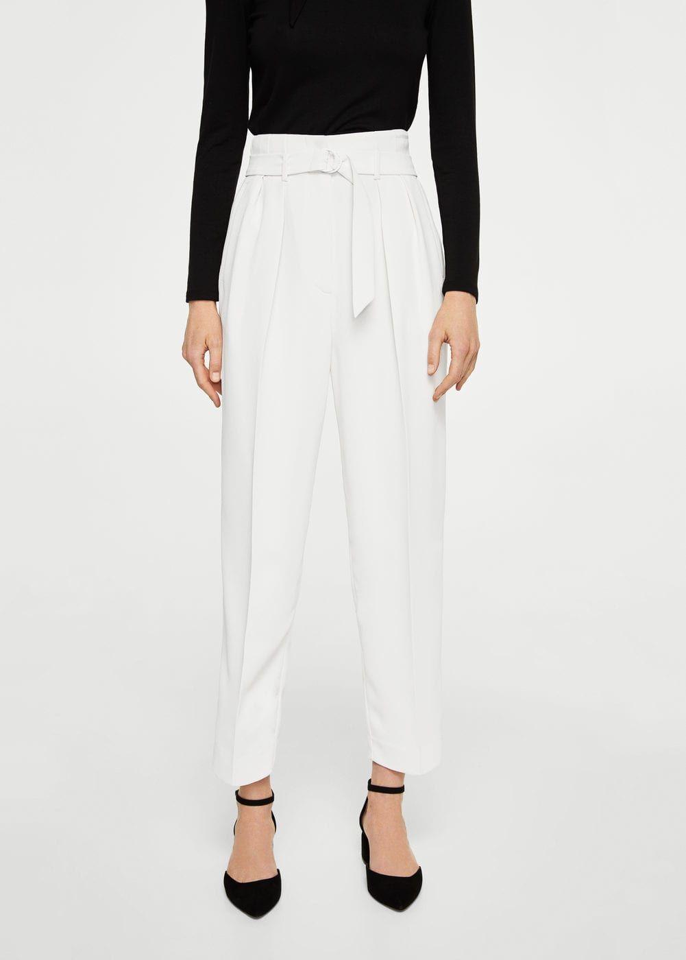 Pantalón detalle pinzas - Mujer en 2019  891d4bf788c8