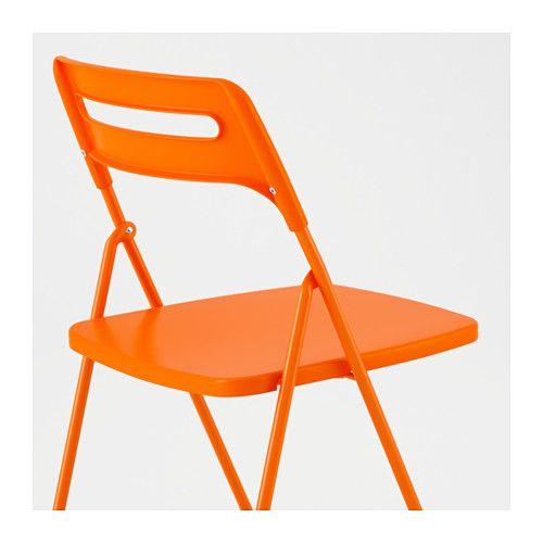 Folding Chair Ikea Plastic Covers For Dining Room Seats Nisse Orange Studio Pinterest