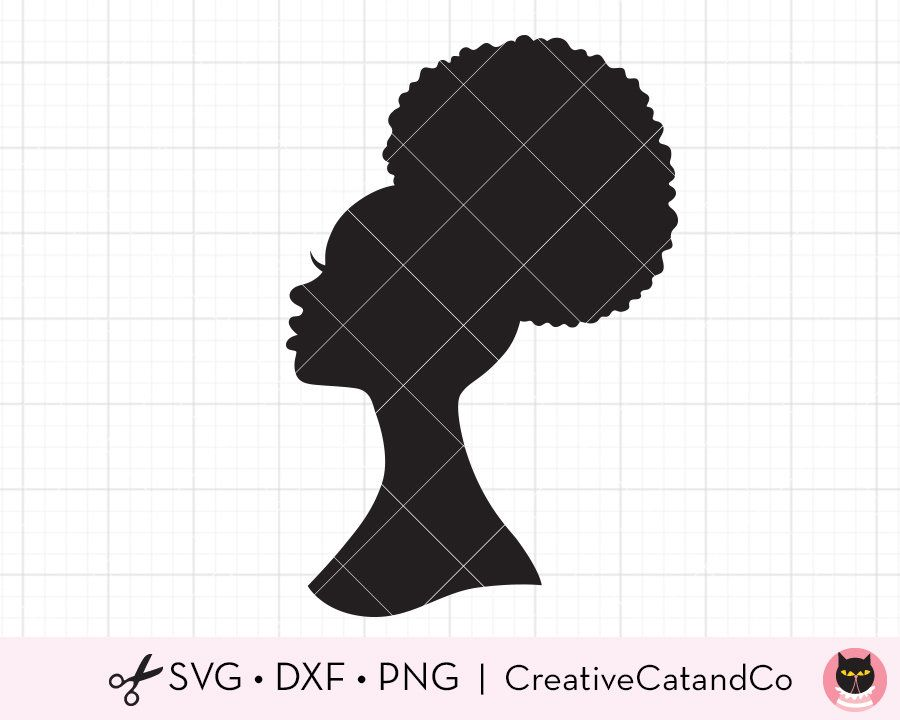 Black Women Praying Nubian Princess Queen Afro Hair Beautiful African Female Lady Svg Eps Png Vect Black Woman Silhouette Woman Praying Images Silhouette Art