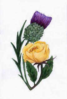 Thistle And Rose Tattoo Designs Scottish Tattoos Rose Tattoo Design Thistle Rose Tattoo