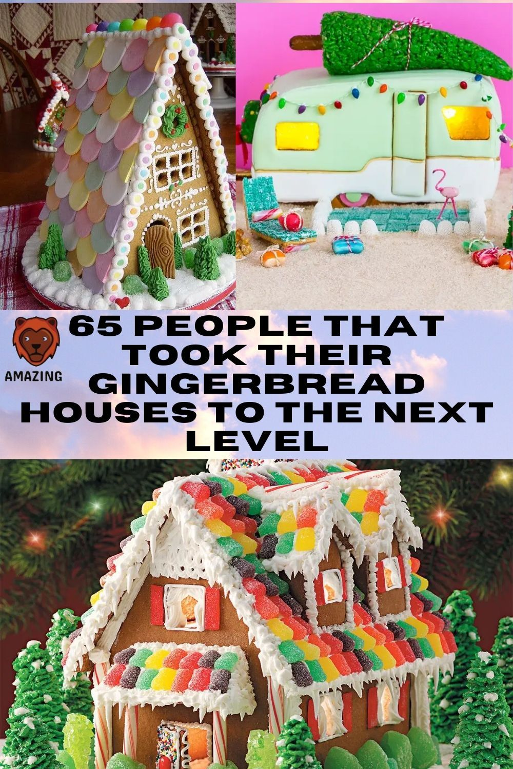 65 people that took their gingerbread houses to the next