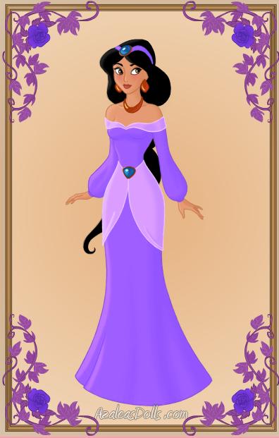 princess jasmine purple dress by kawaiibrit on deviantart
