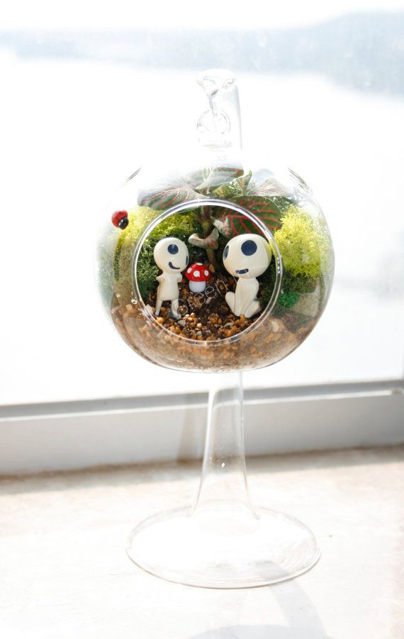 hanging planter / terrarium glass/ hanging glass / by GreenInHK